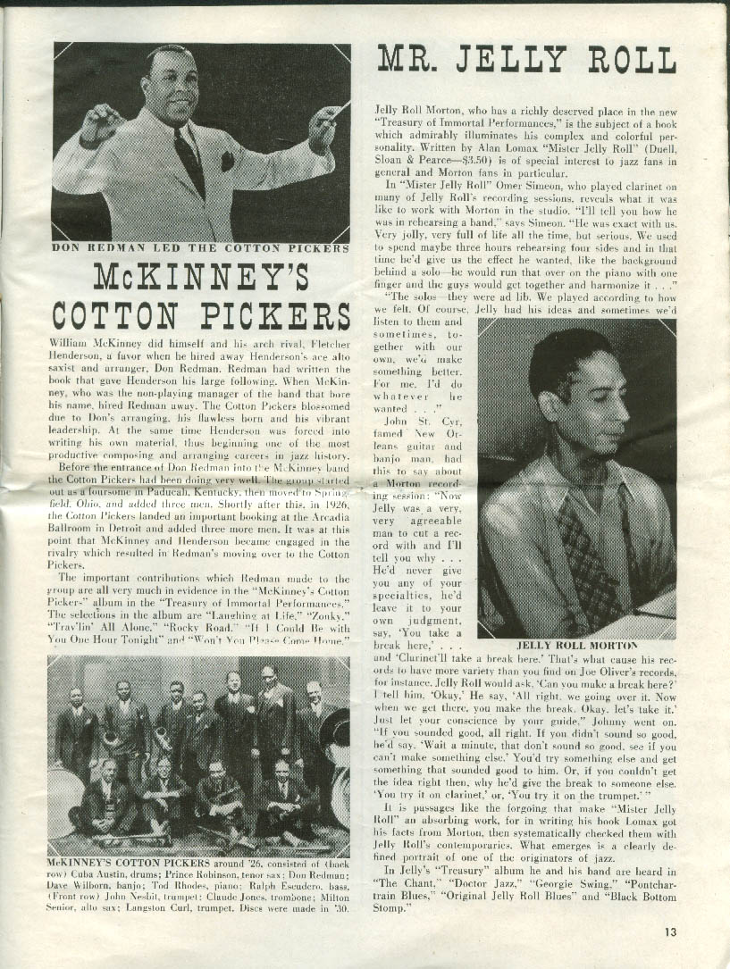 RCA Victor PICTURE RECORD REVIEW 1 1952: Goodman Bechet Ponselle Caruso +