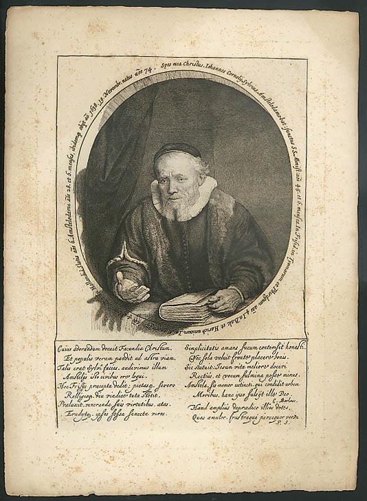 Rembrandt: Johannes Cornelius Sylvius heliogravure print ca 1880s MBM Portfolio