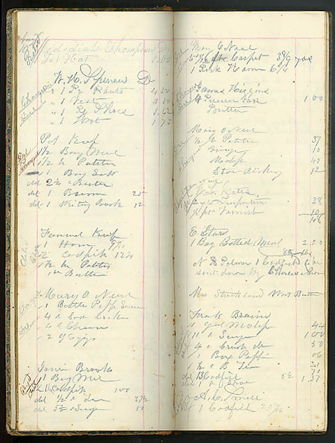 C F Sisson's Country Store Order Book Moodus Middlesex County CT 1859-1860