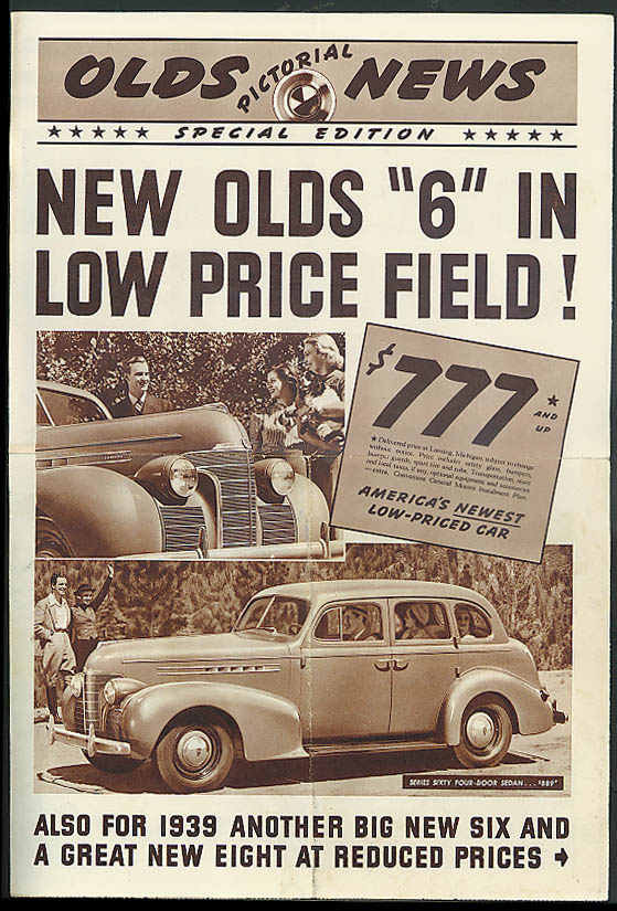 OLDS PICTORIAL NEWS: New Olds 6 in Low Price Field 1939 Oldsmobile