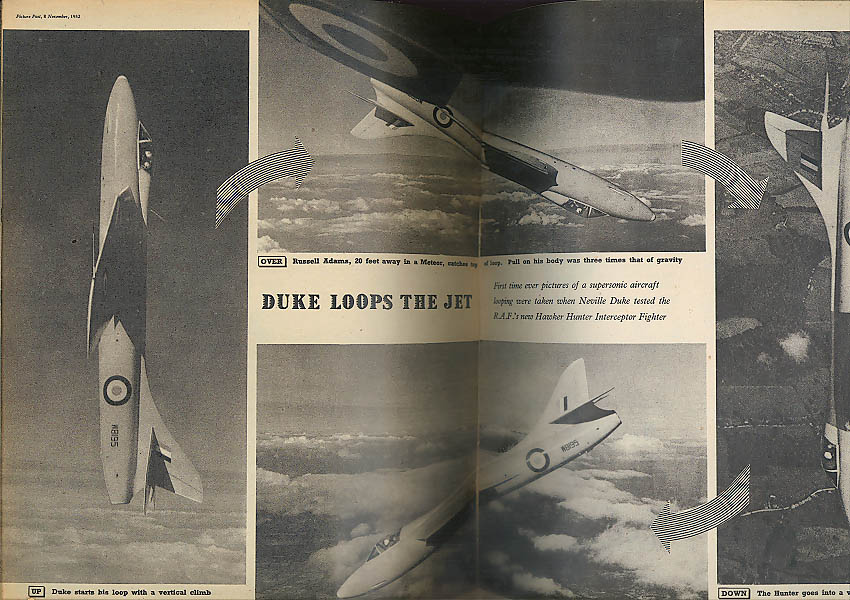 PICTURE POST 11/9 1952: Queen at Shrewsbury; Eve Boswell in Korea; Hawker Hunter