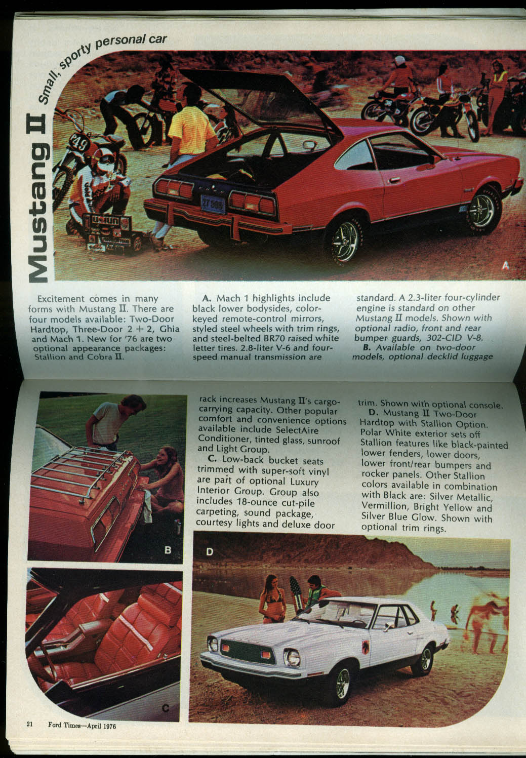FORD TIMES Car Buyers Digest Thunderbird Torino LTD Elite KY Derby 4 1976