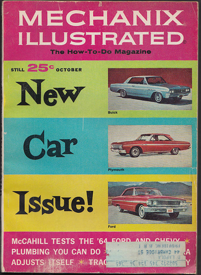 MECHANIX ILLUSTRATED 1964 Ford Galaxie Chevrolet Chevelle road tests ++ 10 1963