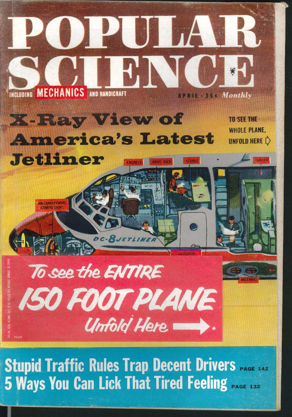 POPULAR SCIENCE Borgward Russian Cars Satellites DC-8 Nylon Rifles + 4 1959