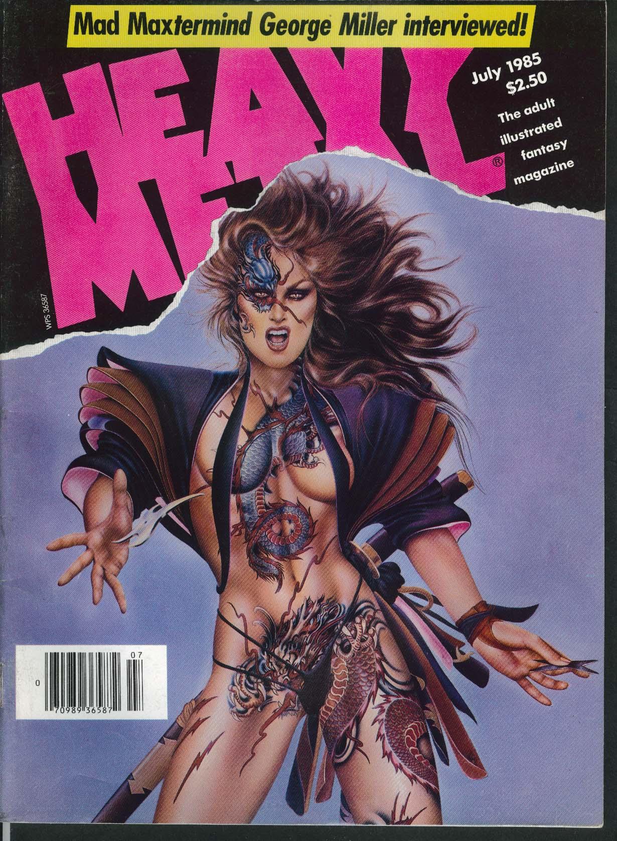 HEAVY METAL Mad Max George Miller Richard Corben Voss Rod Kierkegaard 7 1985