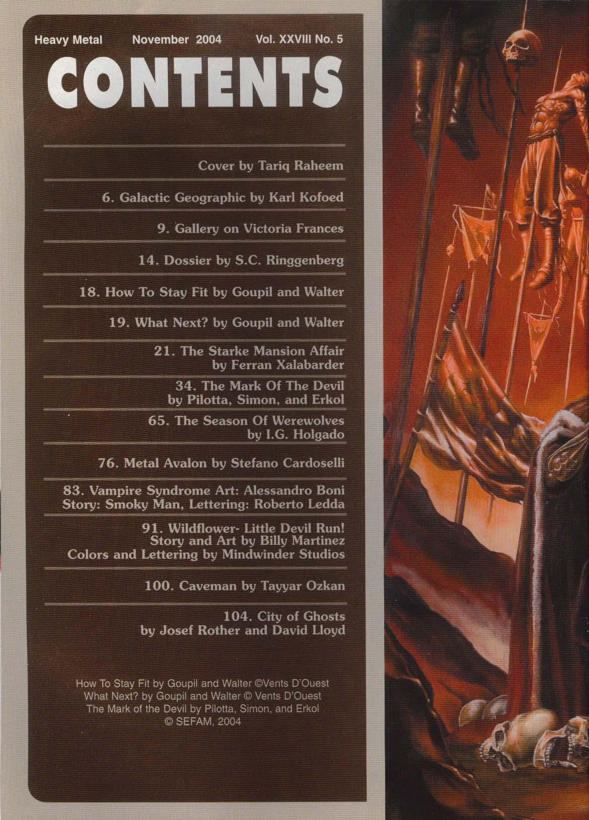 HEAVY METAL Goupil & Walter Xalabarder Stefano Cardoselli Tayyar Ozkam + 11 2004
