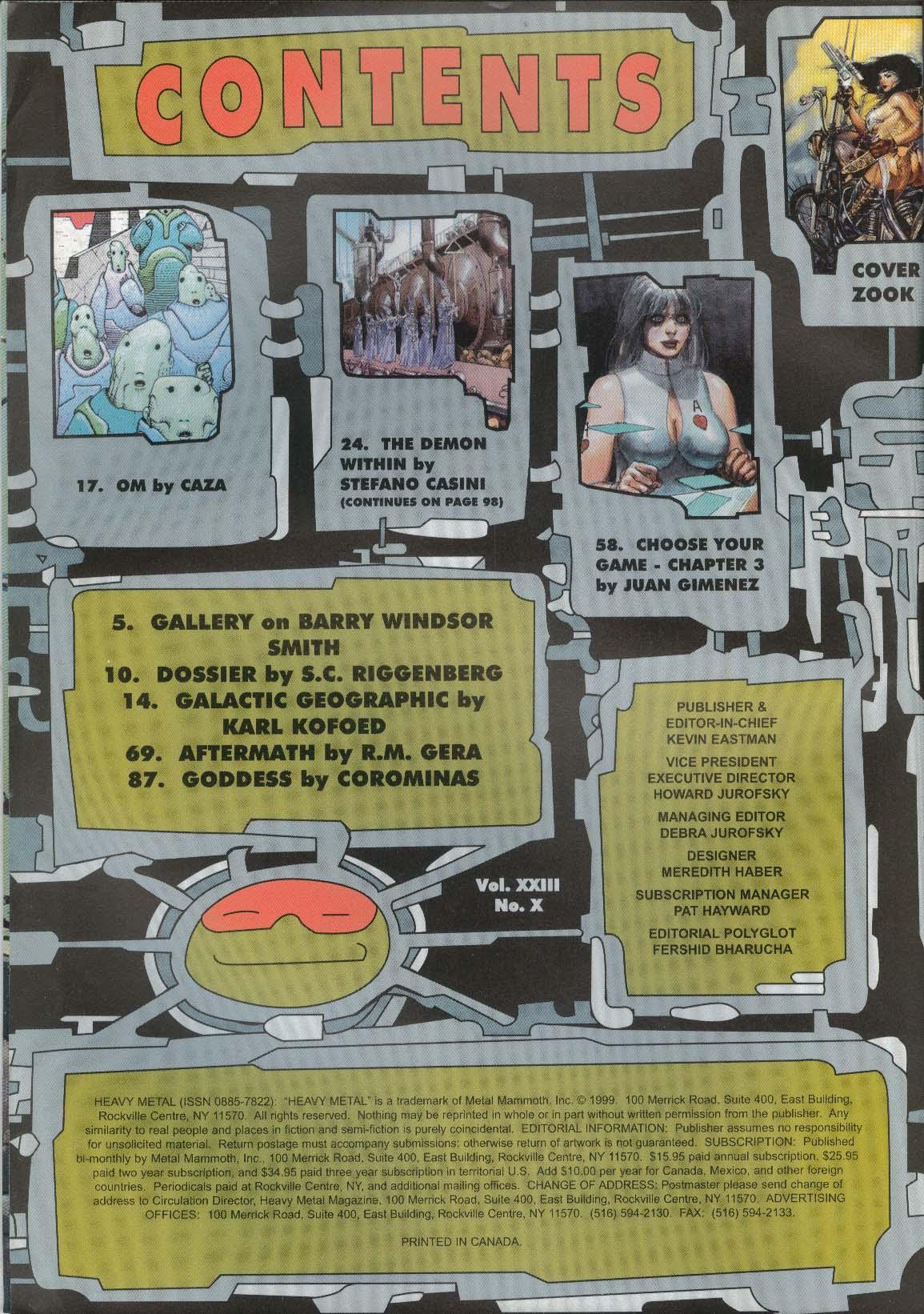 HEAVY METAL Barry Windsor Smith Gimenez Caza 11 1999