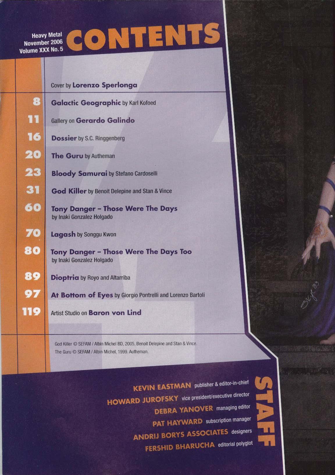 HEAVY METAL Benoit Delepine Stan & Vince Royo Altarriba Baron von Lind 11 2006