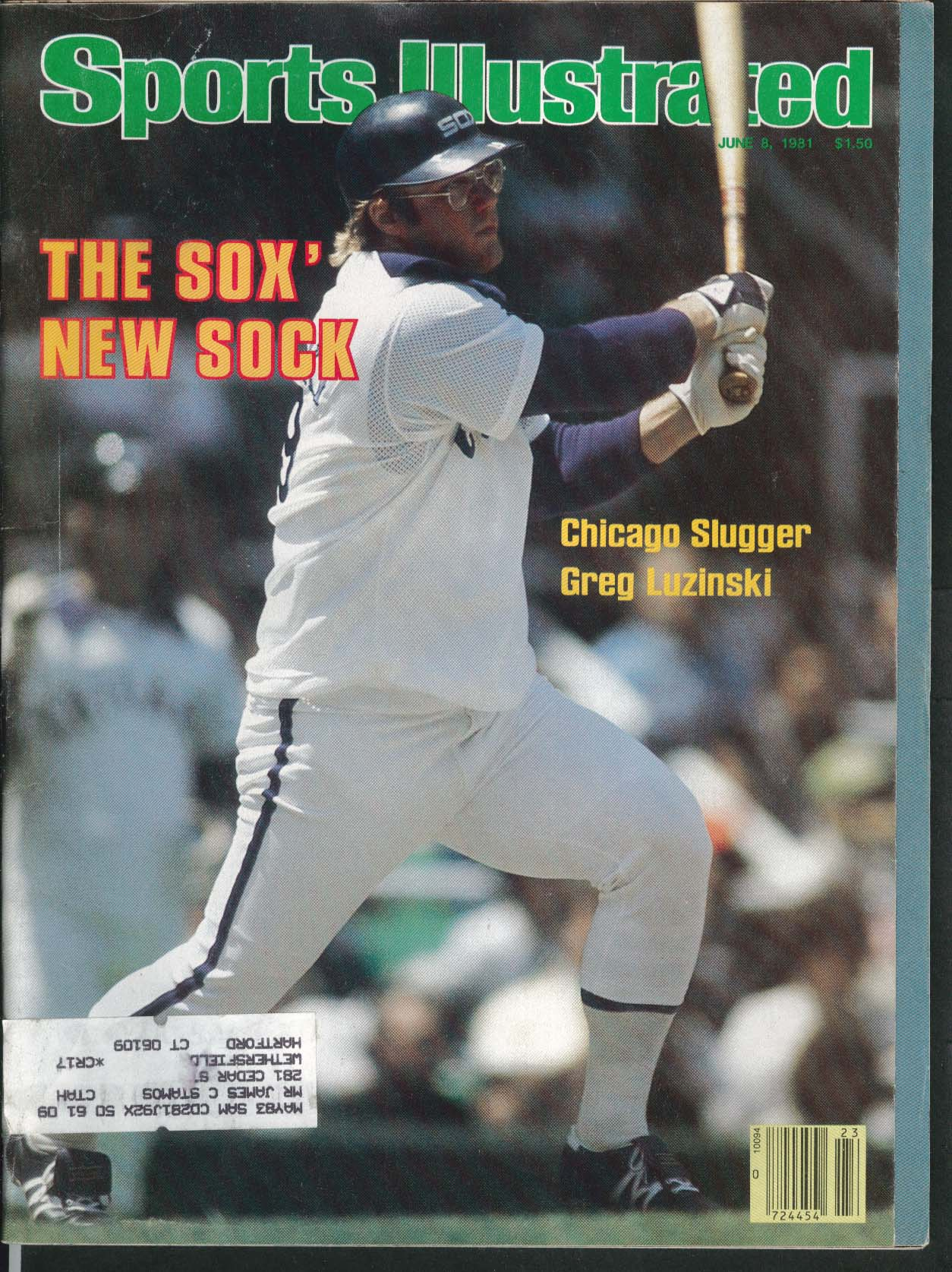 SPORTS ILLUSTRATED Greg Luzinski Carlton Fisk Mark Aquirre Ben Oglivie 6/8 1981