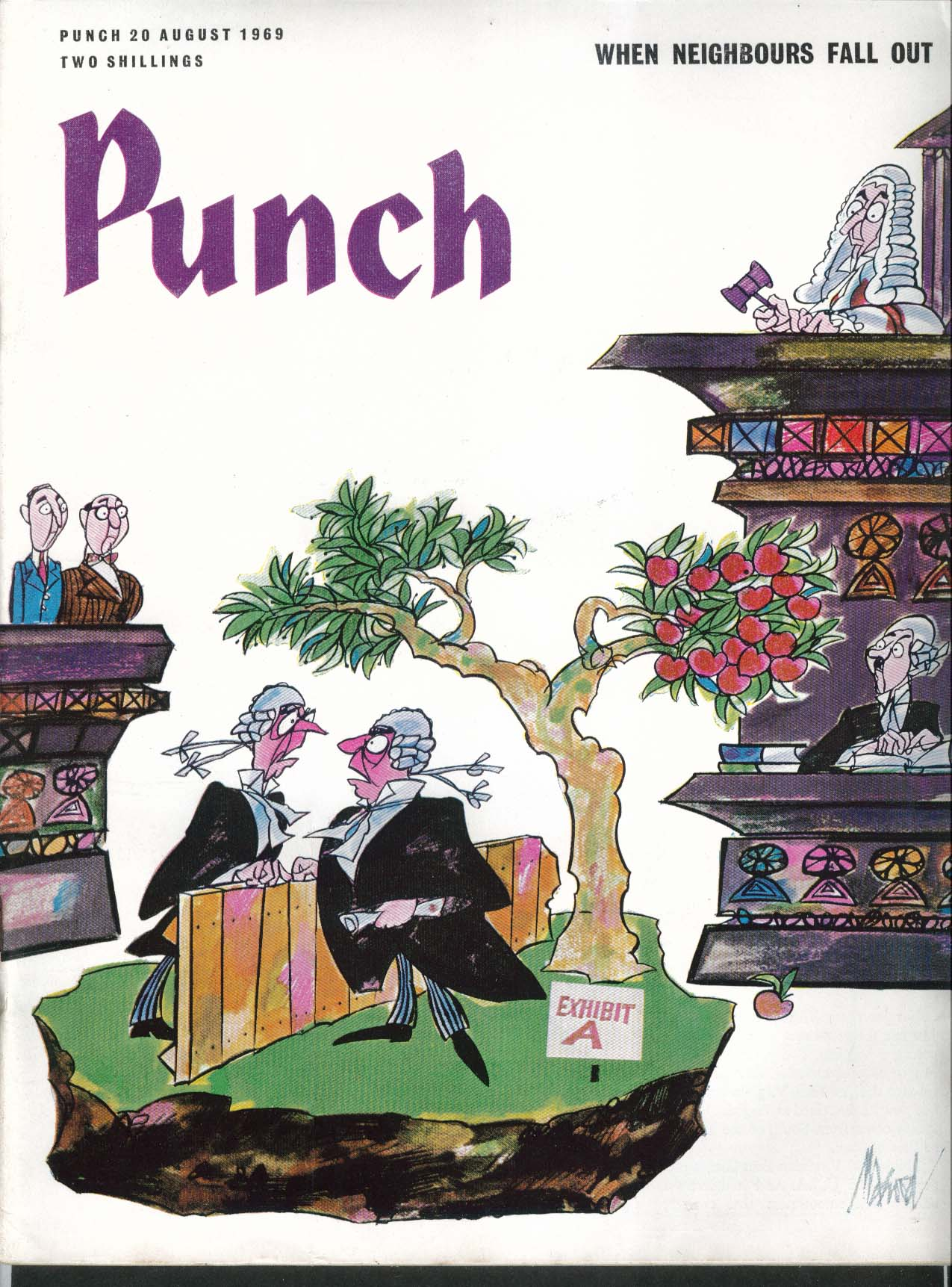 PUNCH Miles Kington Fenton Bresler Basil Boothroyd Alan Koren 8/20 1969