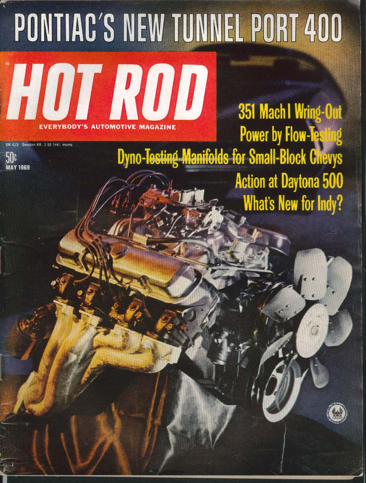HOT ROD Pontiac Tunnel Port 400 351 Mach I Daytona 500 5 1969