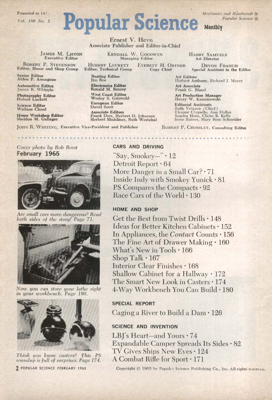 POPULAR SCIENCE Ford Falcon American Plymouth Valiant Chevy II road tests 2 1965