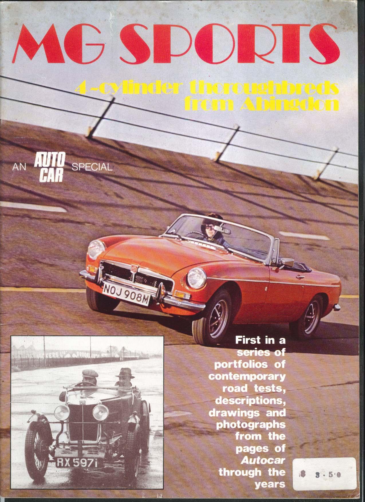 MG SPORTS Autocar Special M-type Montlhery J2 P-type PB Series T TC TD Midget ++