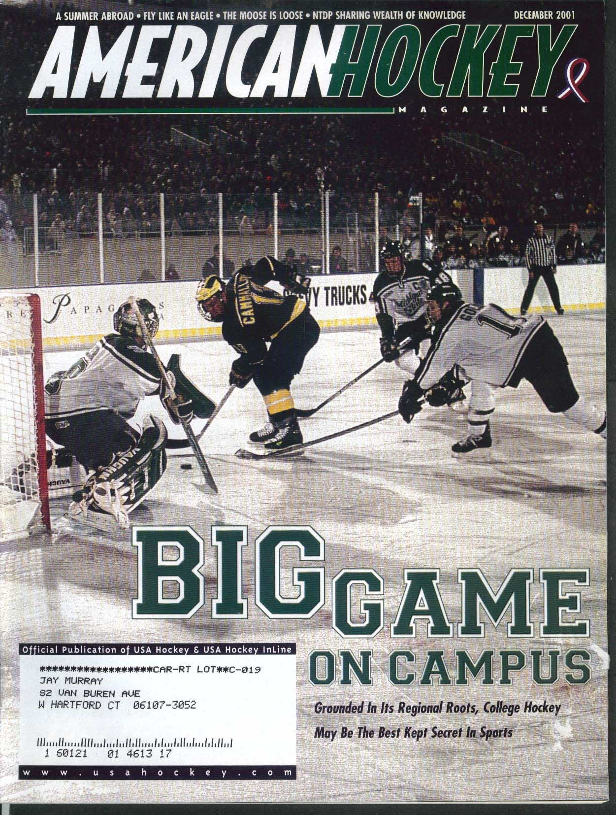 AMERICAN HOCKEY Hal Gill Adam Hall Josh Blackburn Jordan Leopold 12 2001
