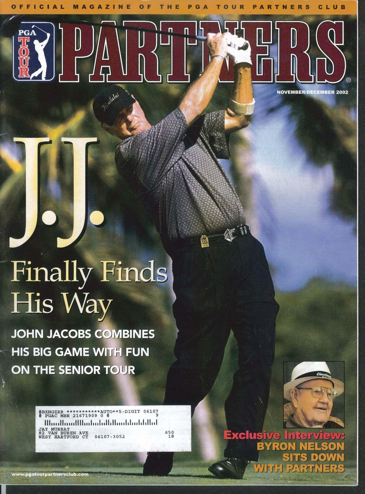 PGA TOUR PARTNERS John Jacobs Byron Nelson Chris DiMarco 11-12 2002