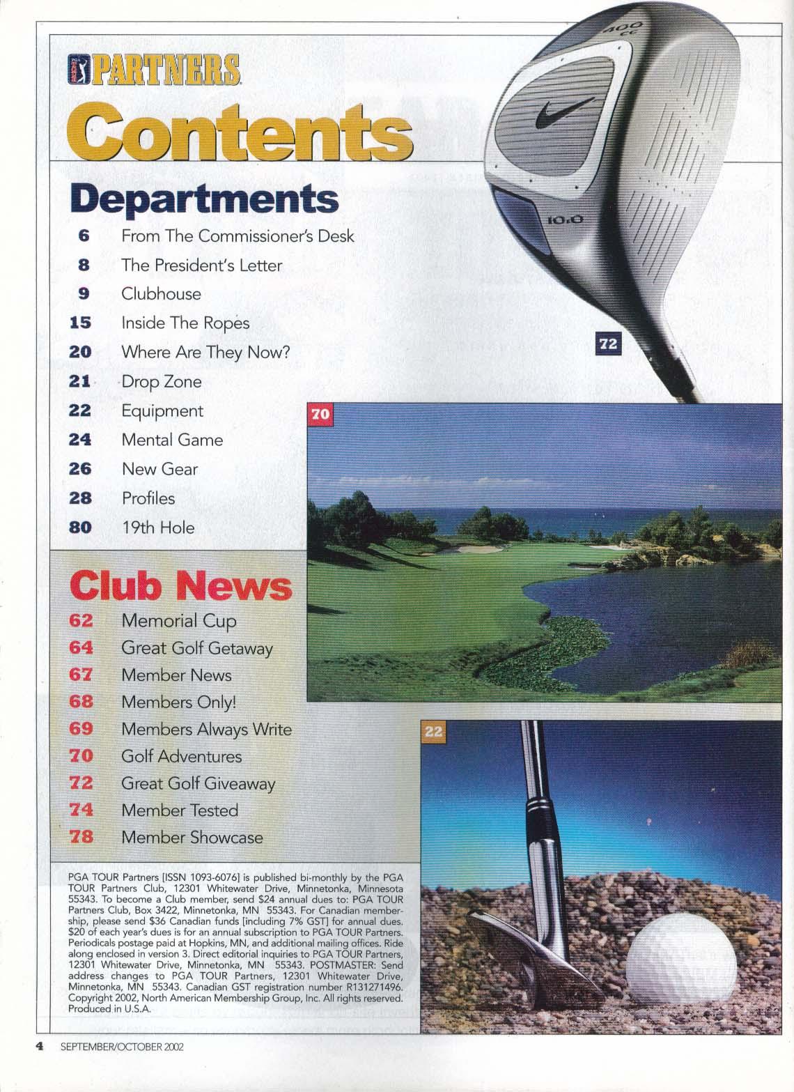 PGA TOUR PARTNERS Charles Howell III Ryder Cup Doug Tewell 9-10 2002