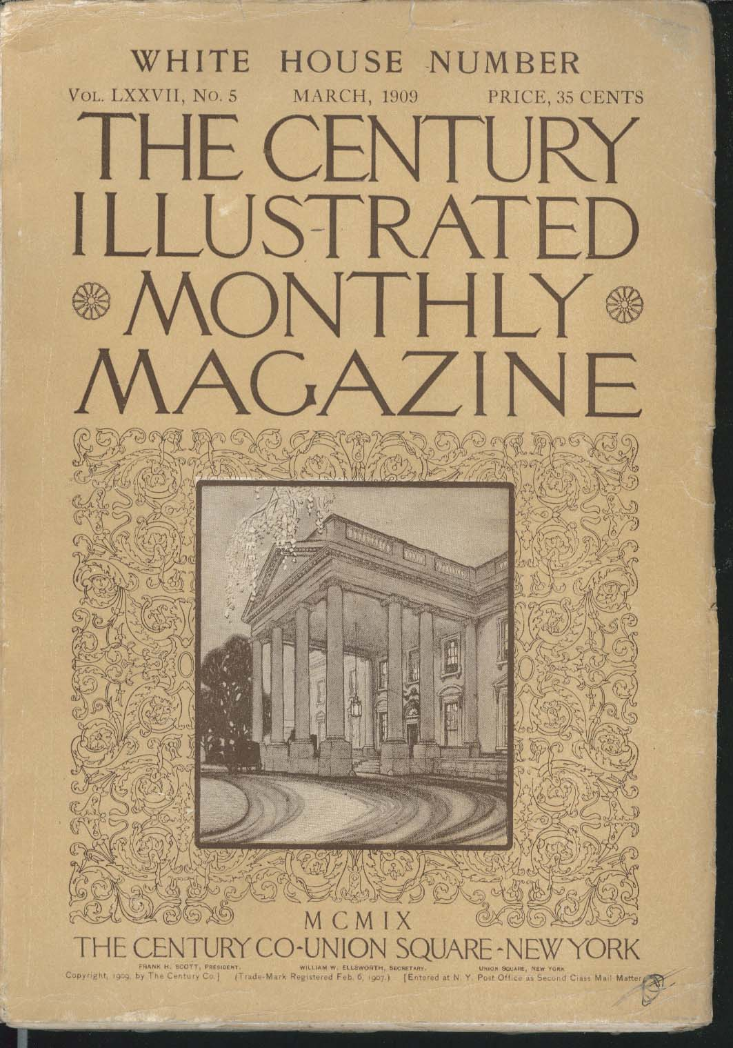 CENTURY ILLUSTRATED MONTHLY MAGAZINE Margarita Spalding Gerry Pres Hayes 3 1909