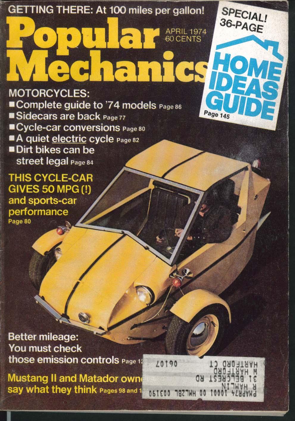 POPULAR MECHANICS Ford Mustang II AMC Matador owners reports 4 1974