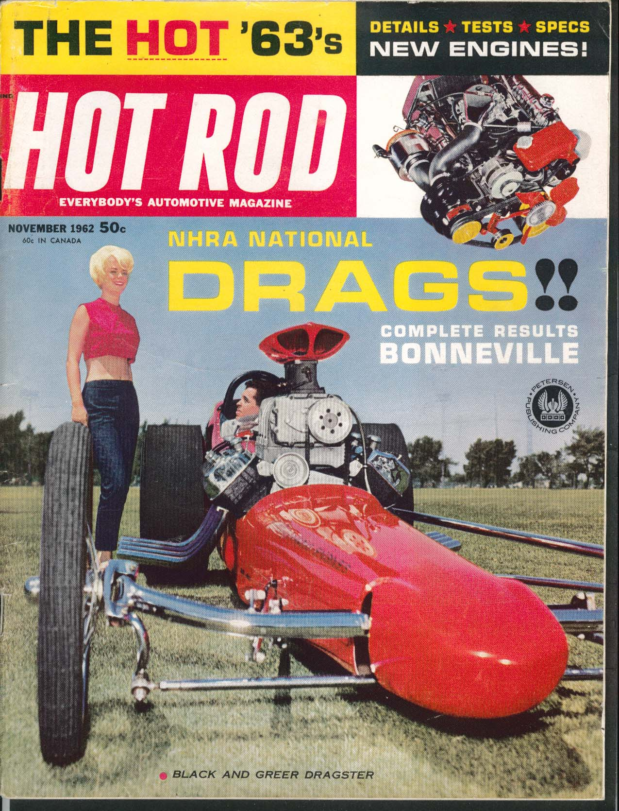 HOT ROD Willys Big Bore BSA Bonneville Nationals Ford Mustang 11 1962