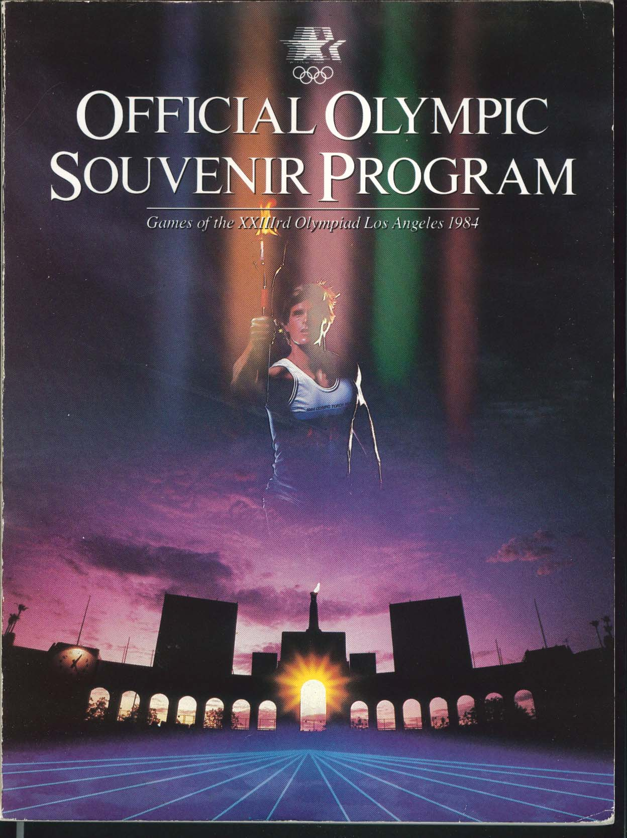 Official Olympic Souvenir Program 33rd Olympiad Los Angeles 1984