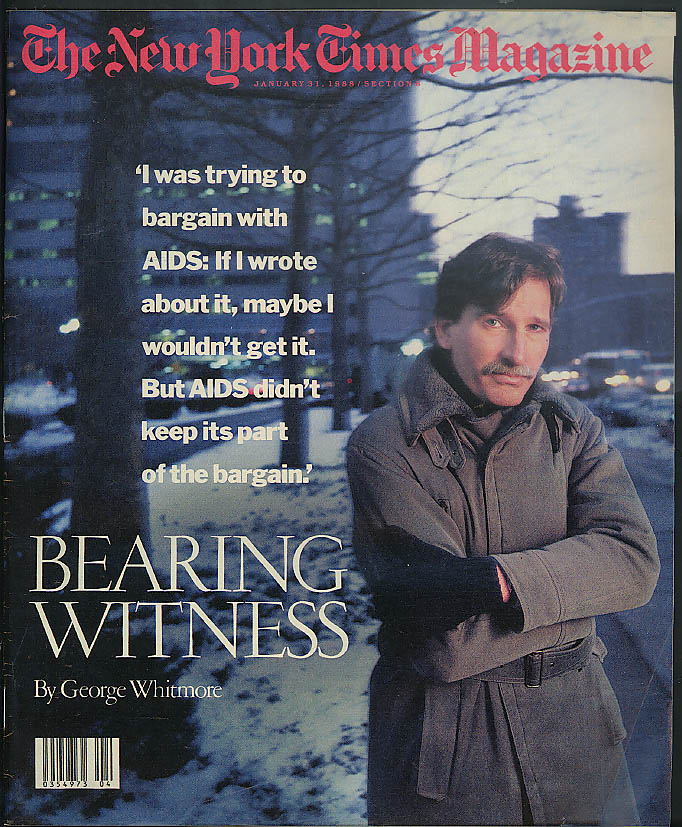 NEW YORK TIMES MAGAZINE George Whitmore AIDS Coors Clare Booth Luce 1/31 1988