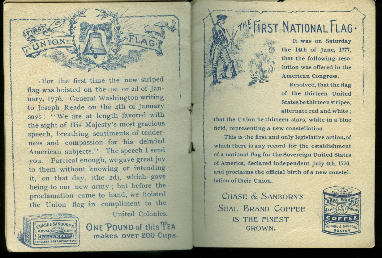 Chase & Sanborn Coffee History of American Flags booklet ca 1910