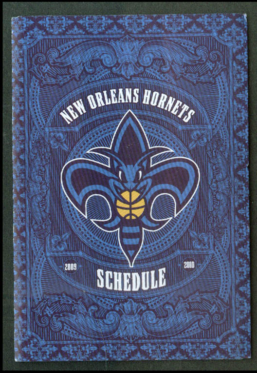 Image for New Orleans Hornets NBA Basketball Pocket Schedule 209-2010