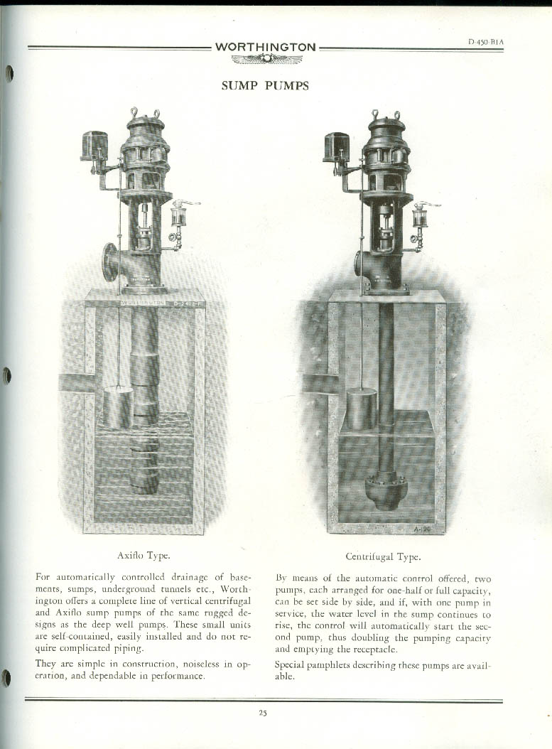 Worthington Deep Well Pumps Axiflo Hiflo Coniflo Bulletin Catalog 11 1930