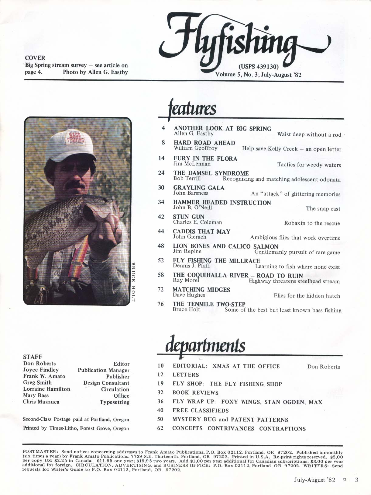 FLYFISHING Rapid Nymphing Gamefish Lochsa River 6 1982
