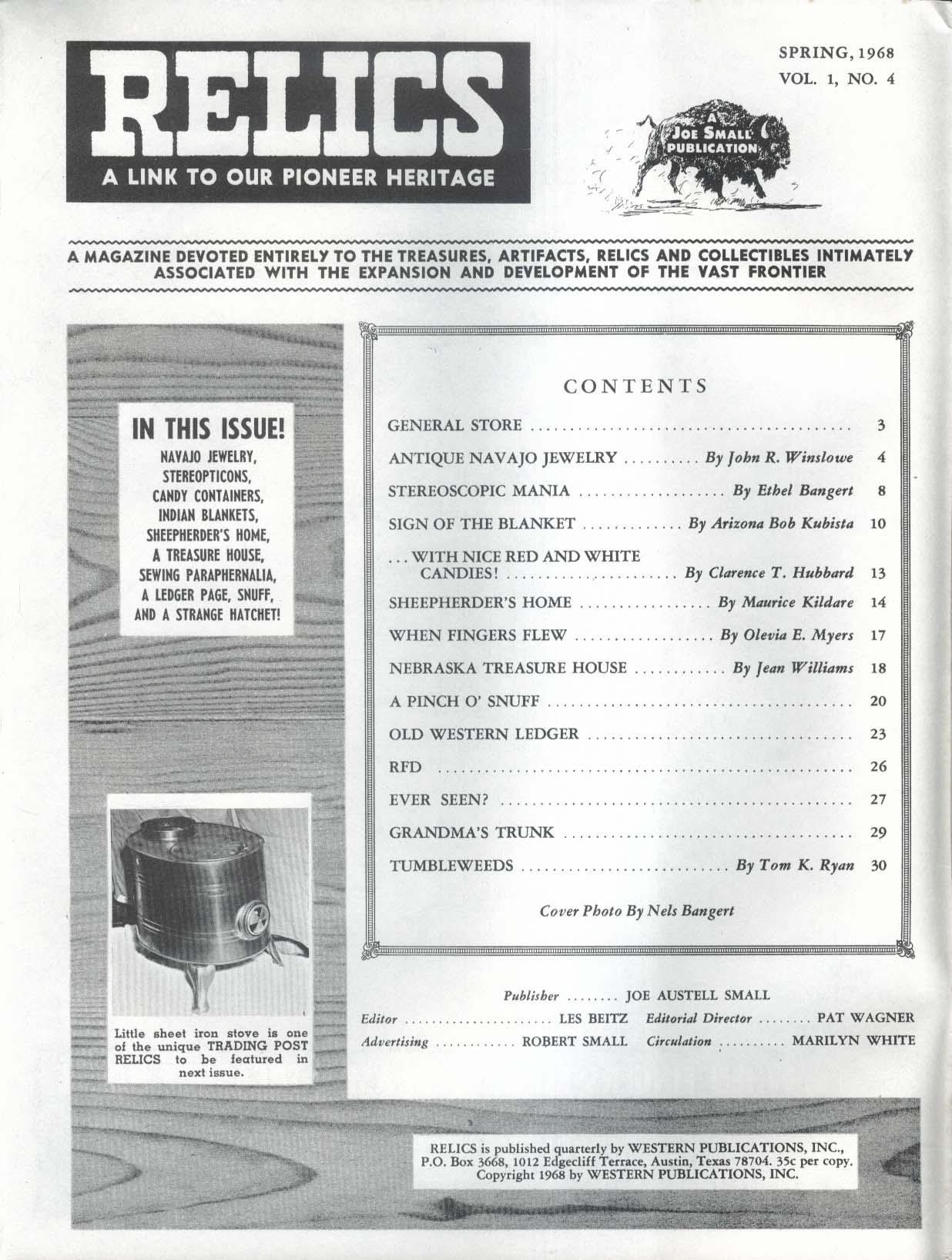 RELICS Navajo Jewelry Stereoscopic Nebraska Treasure House Spring 1968