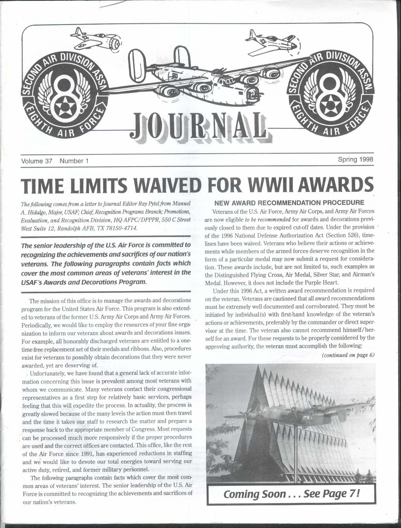2nd Air Division Journal 8th Air Force Vol 37 #1 Leon Johnson Spring 1998