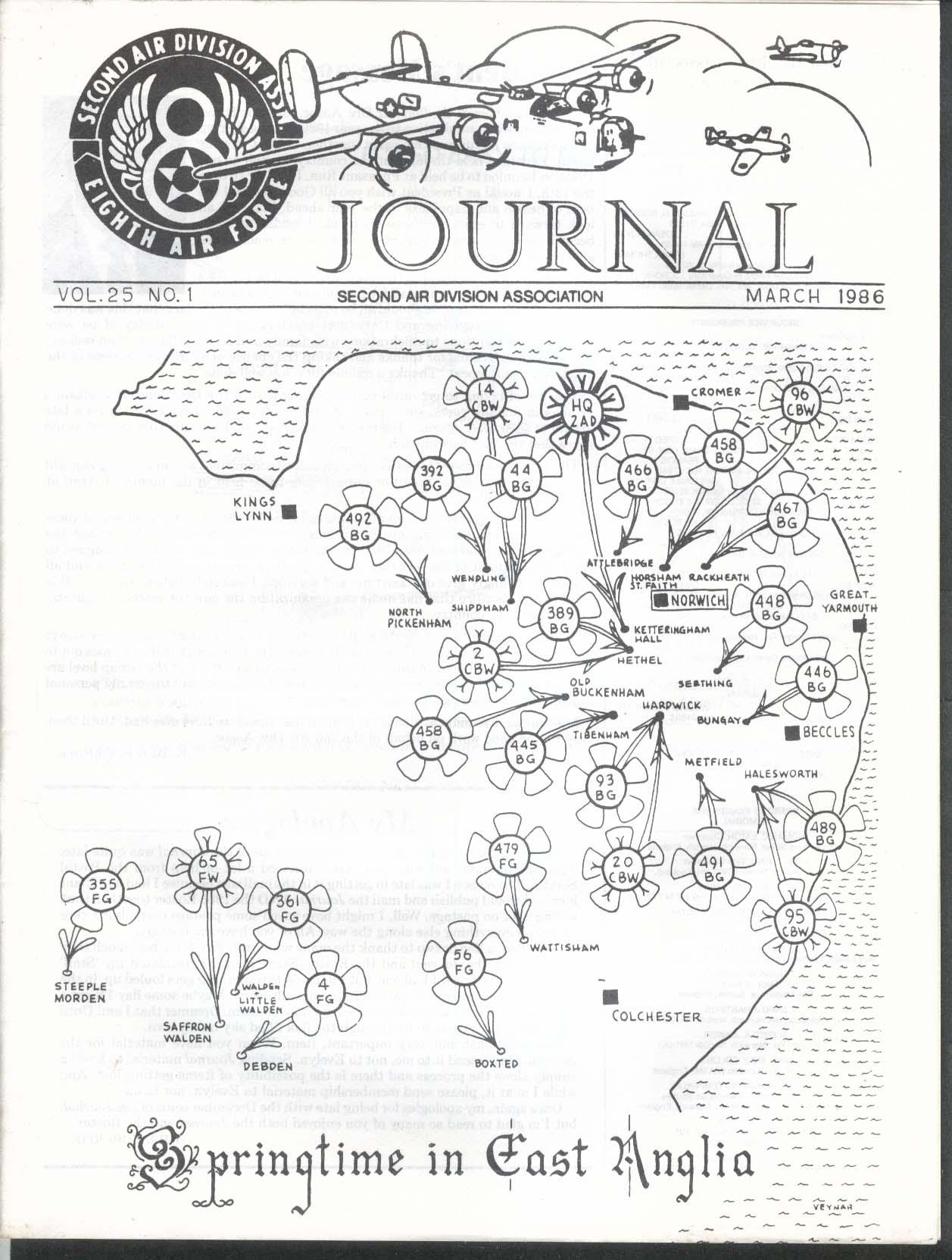 2nd Air Division Journal 8th Air Force Vol 25 #1 East Anglia 3 1986
