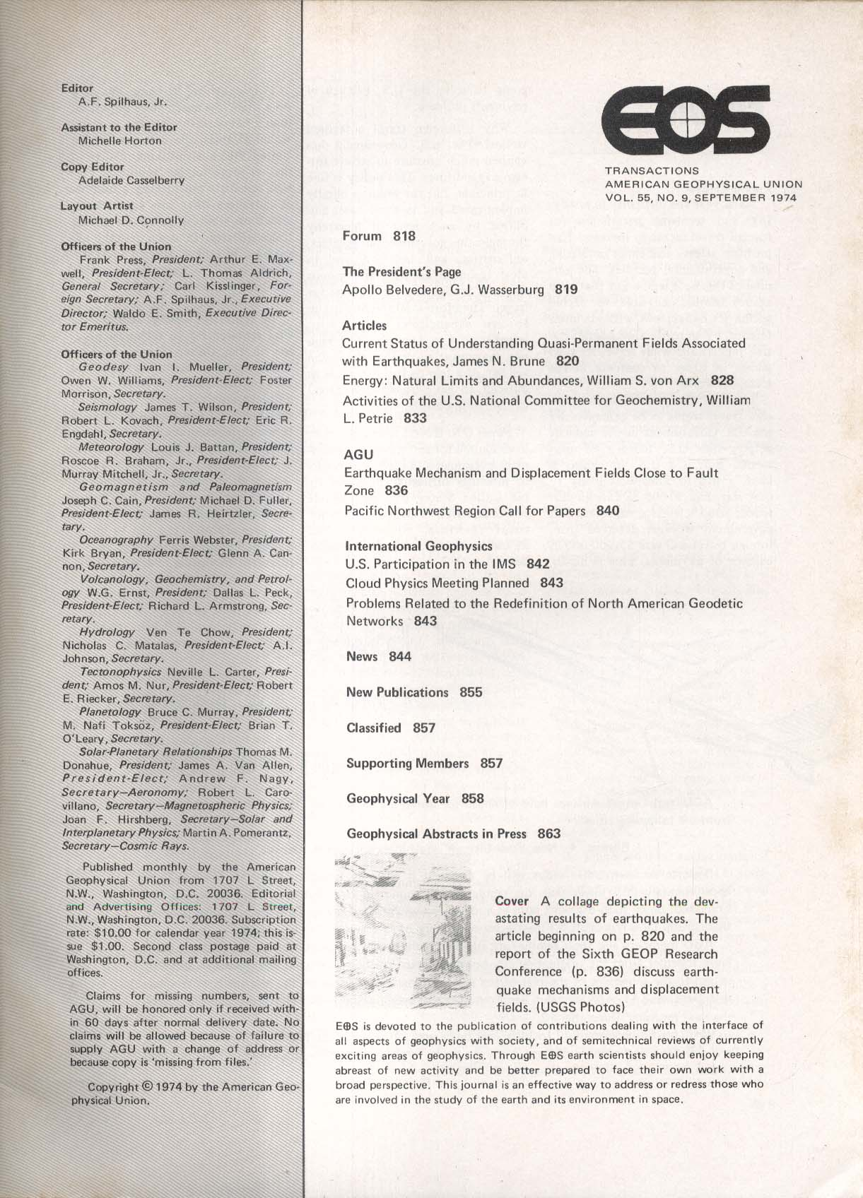 EOS Transactions American Geophysical Union 9 1974 Quasi-Permanent Fields +