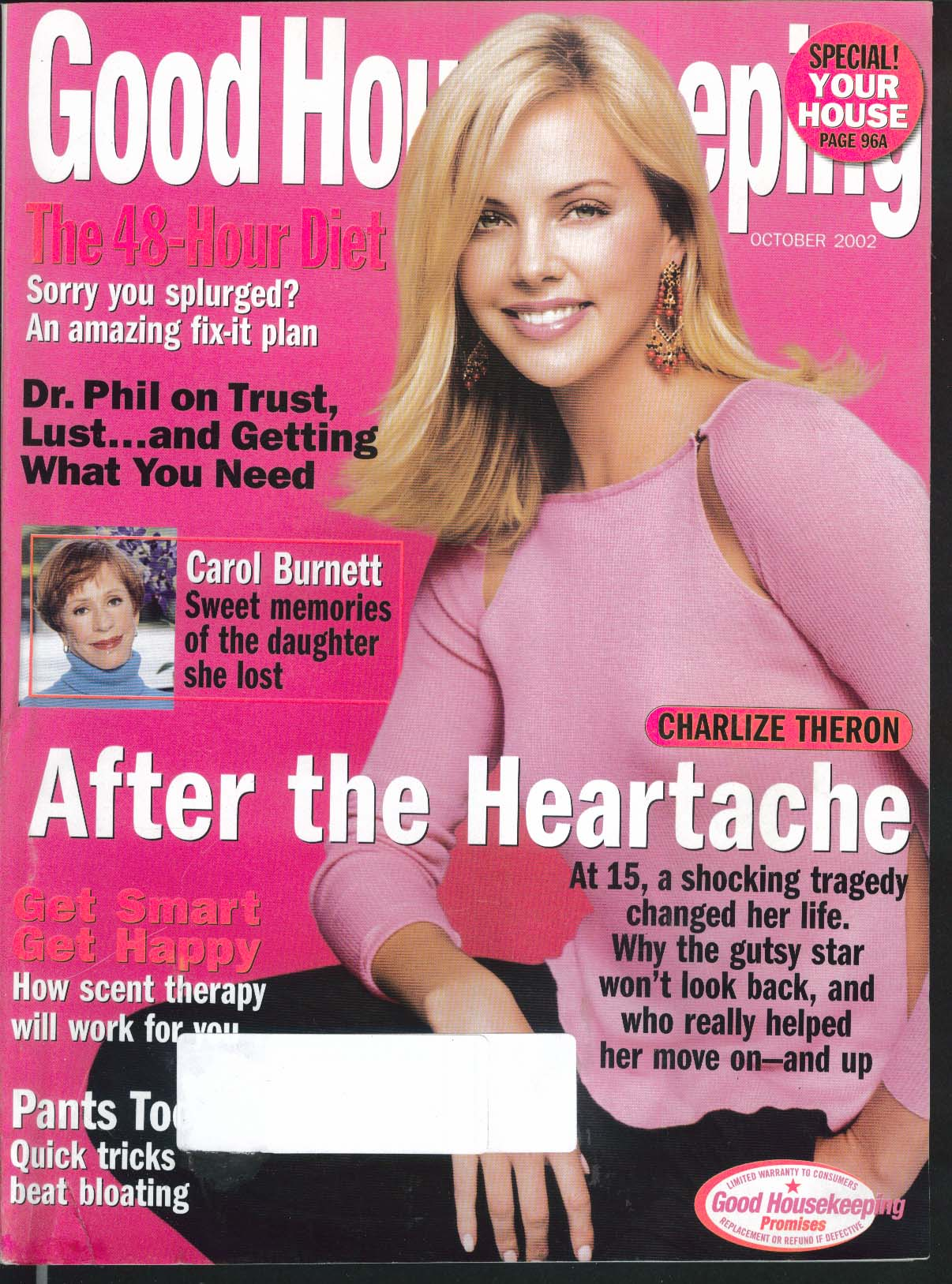 GOOD HOUSEKEEPING Charlize Theron Carol Burnett Dr Phil + 10 2002