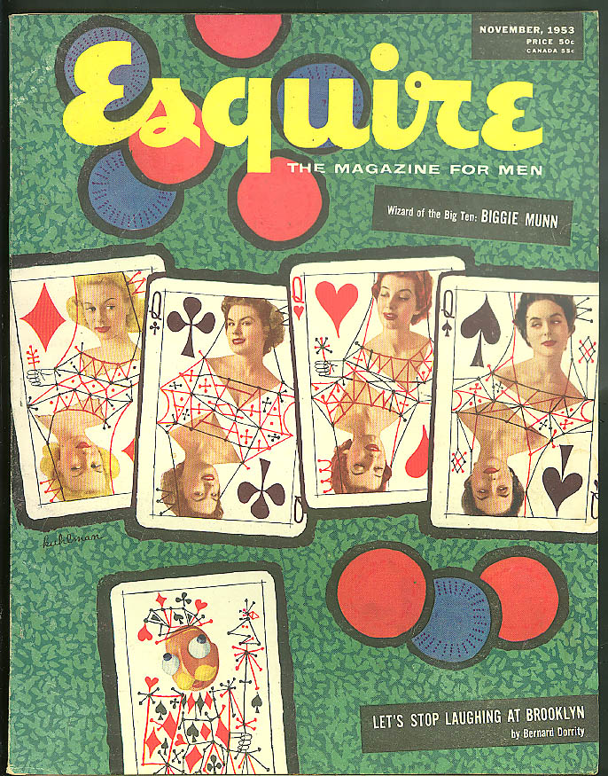 ESQUIRE 11 1953 Duelling Carol Toby foldout Packard Caribbean Lilli Palmer ++