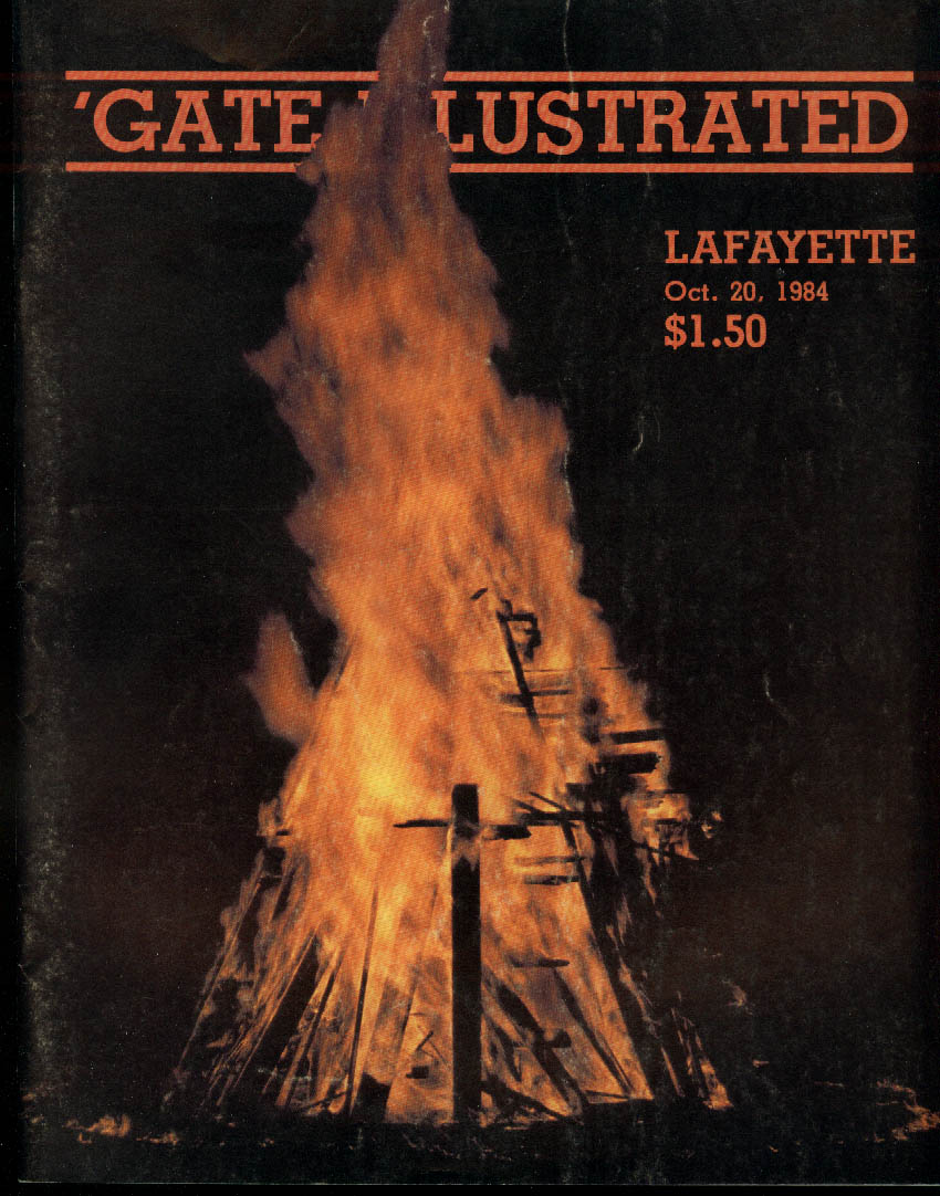 'Gate Illustrated: Colgate vs Lafayette College Football Program 10/20 1984