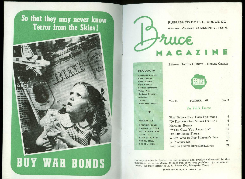 BRUCE Lumber Mills Summer 1942: War Impact; Van Matre-Manning; Pop Shaffer Zoo