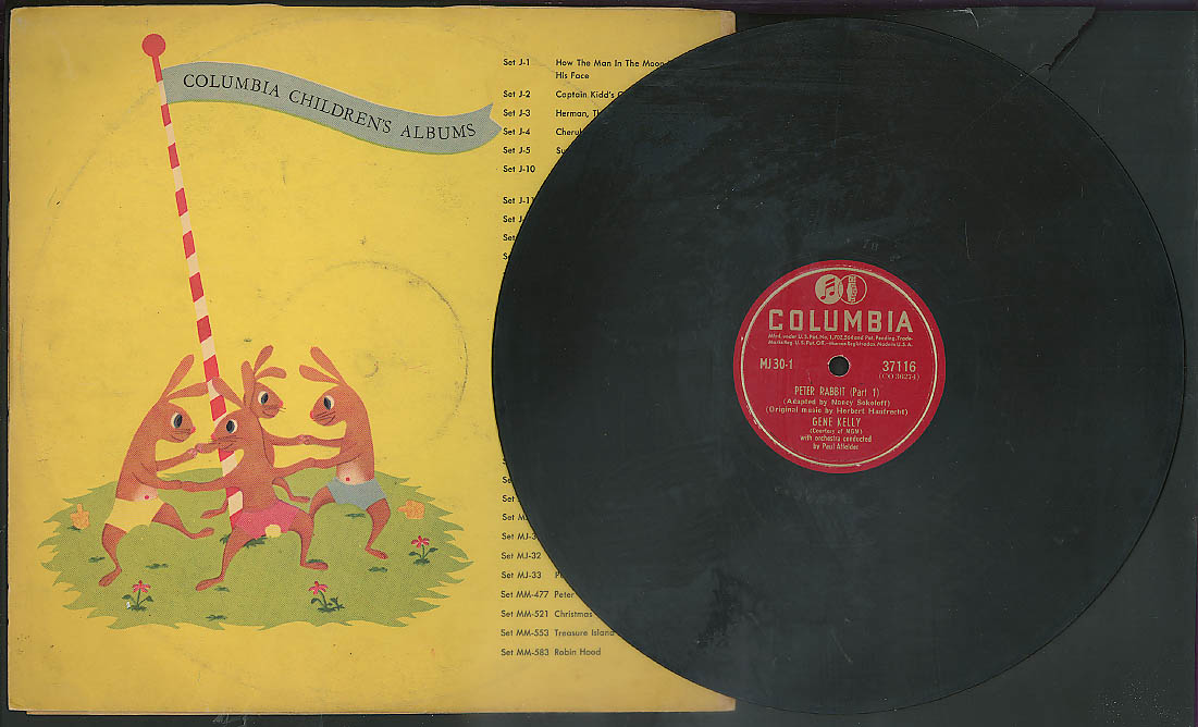 Story of Peter Rabbit narrated by Gene Kelly Columbia Record 1940s