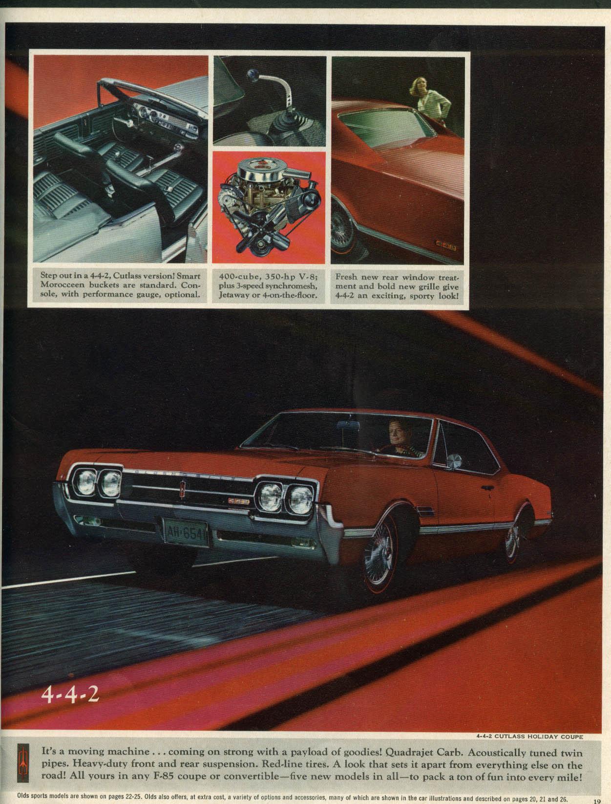 Oldsmobile Toronado 98 88 Starfire 4-4-2 Cutlass F-85 VistaCruiser brochure 1966