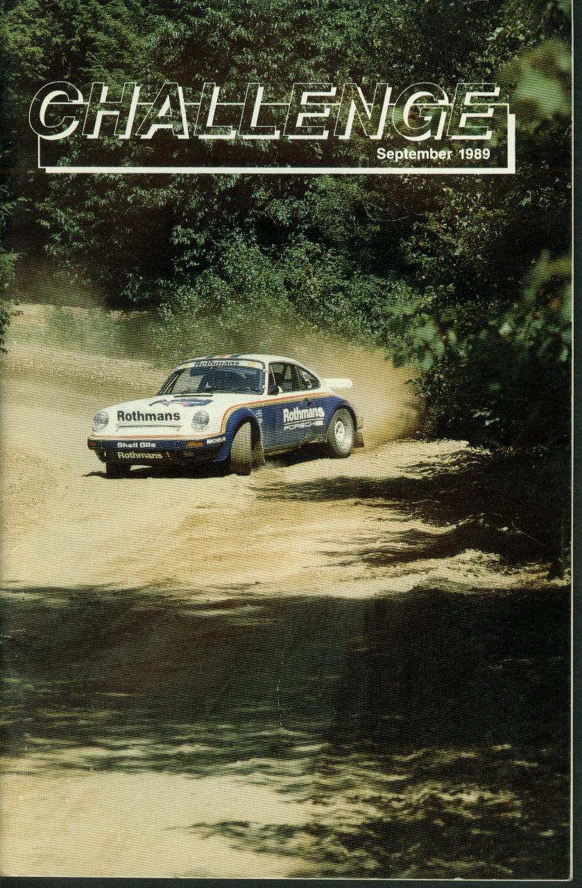 CHALLENGE Connecticut Valley Region Porsche Club of America 9 1989