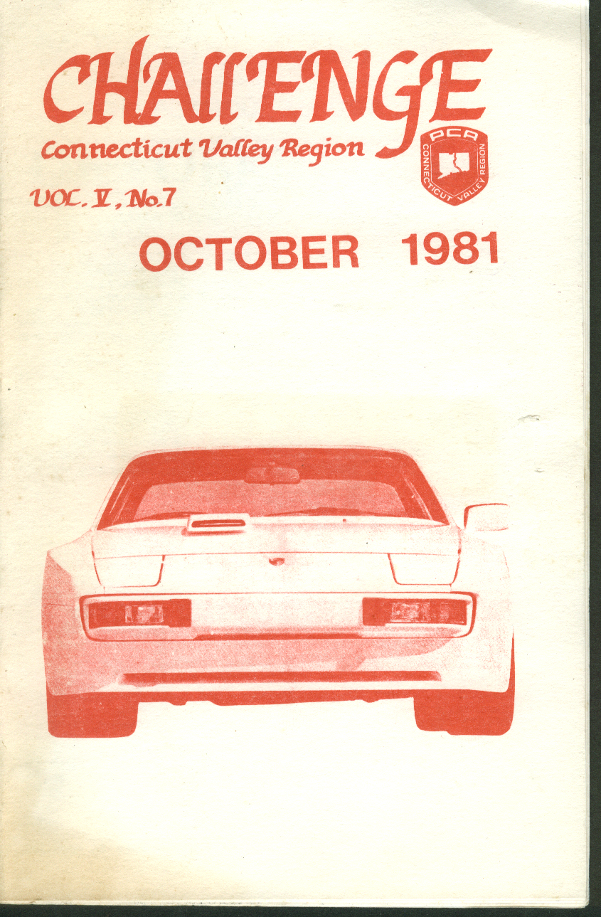 CHALLENGE Connecticut Valley Region Porsche Club of America 10 1981