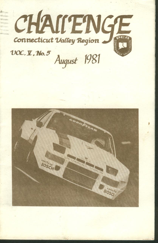 CHALLENGE Connecticut Valley Region Porsche Club of America 8 1981
