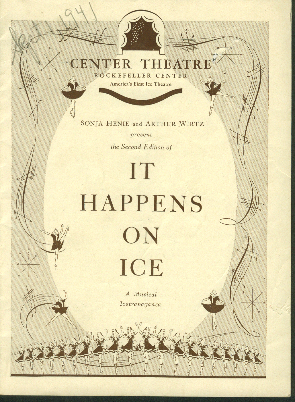 Center Theatre Program It Happens On Ice 2nd Edition Sonja Henie 1941