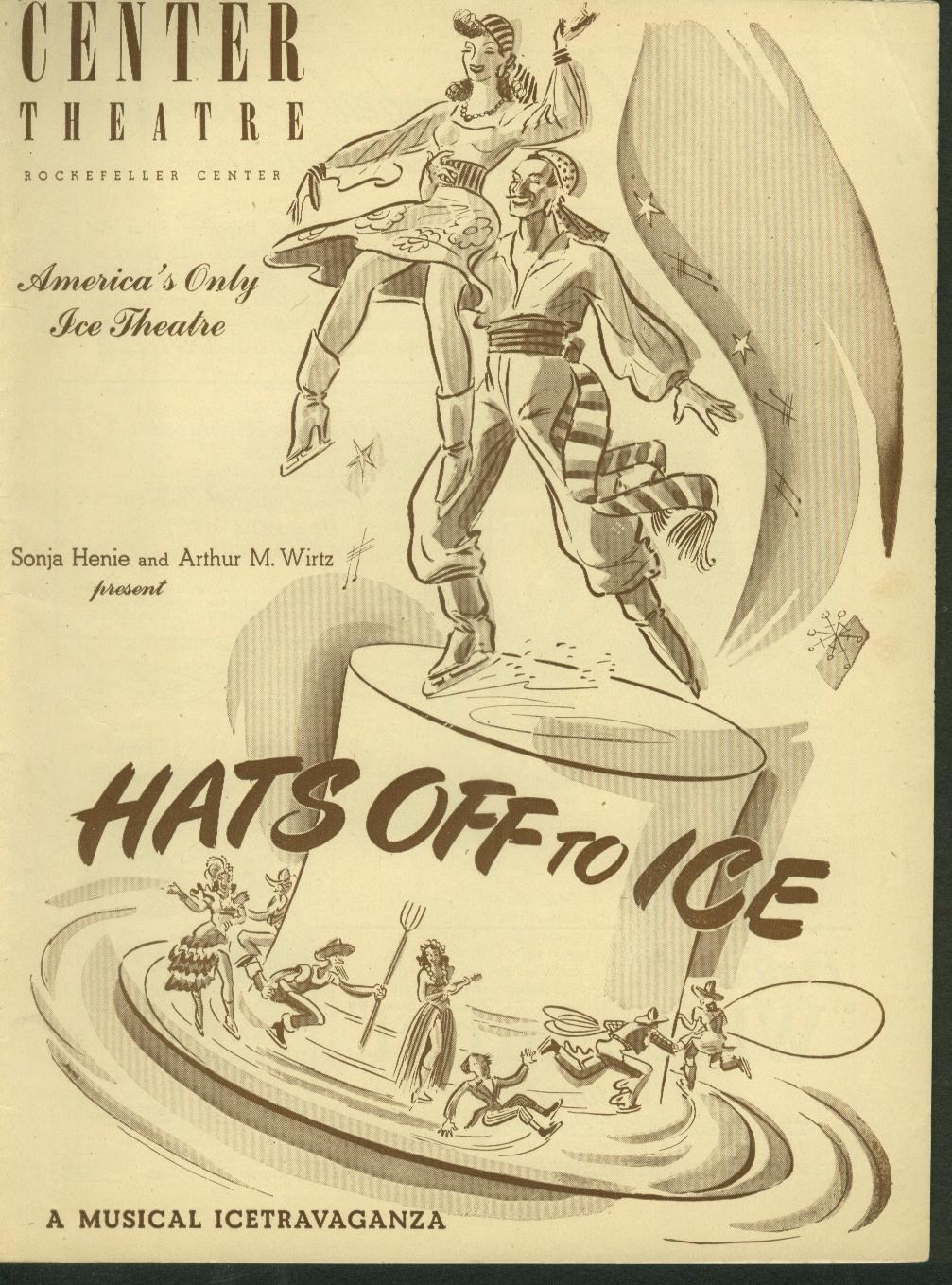 Center Theatre Rockefeller Hats Off to ice Program Sonja Henie 1945