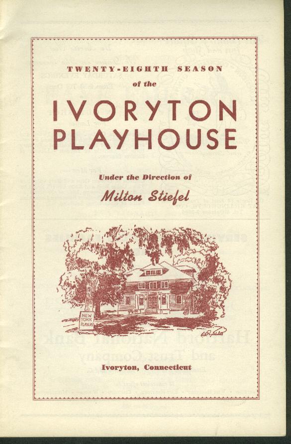 Ivoryton Playhouse Milton Stiefel 1957 Witness for the Prosecution program