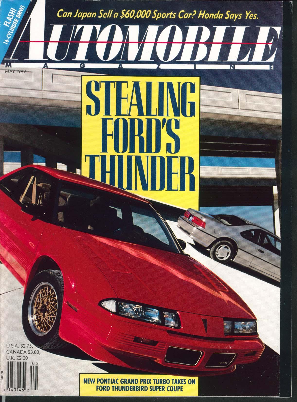 AUTOMOBILE Pontiac Grand Prix Turbo Acura Honda Prelude Si 4WS 5 1989