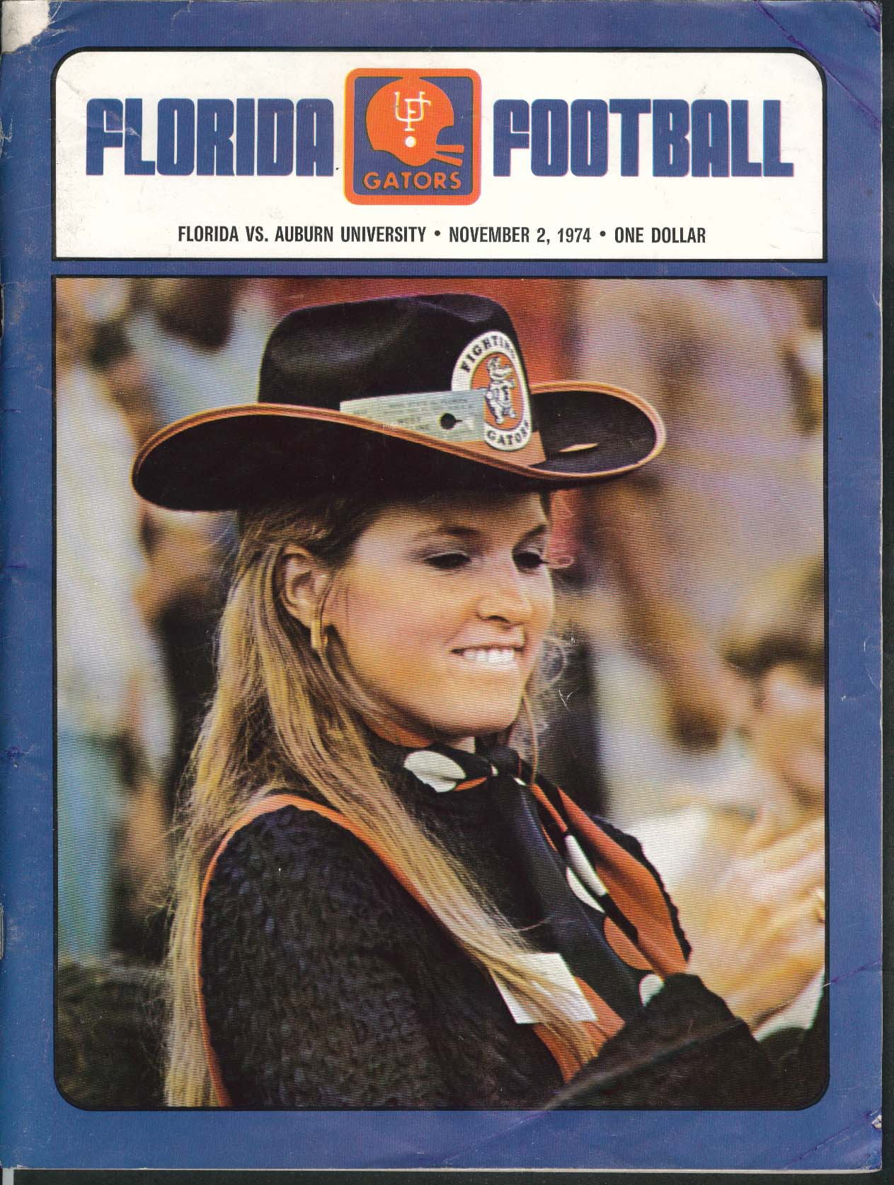 Image for University of Florida Gators Football Program 11/2 1974
