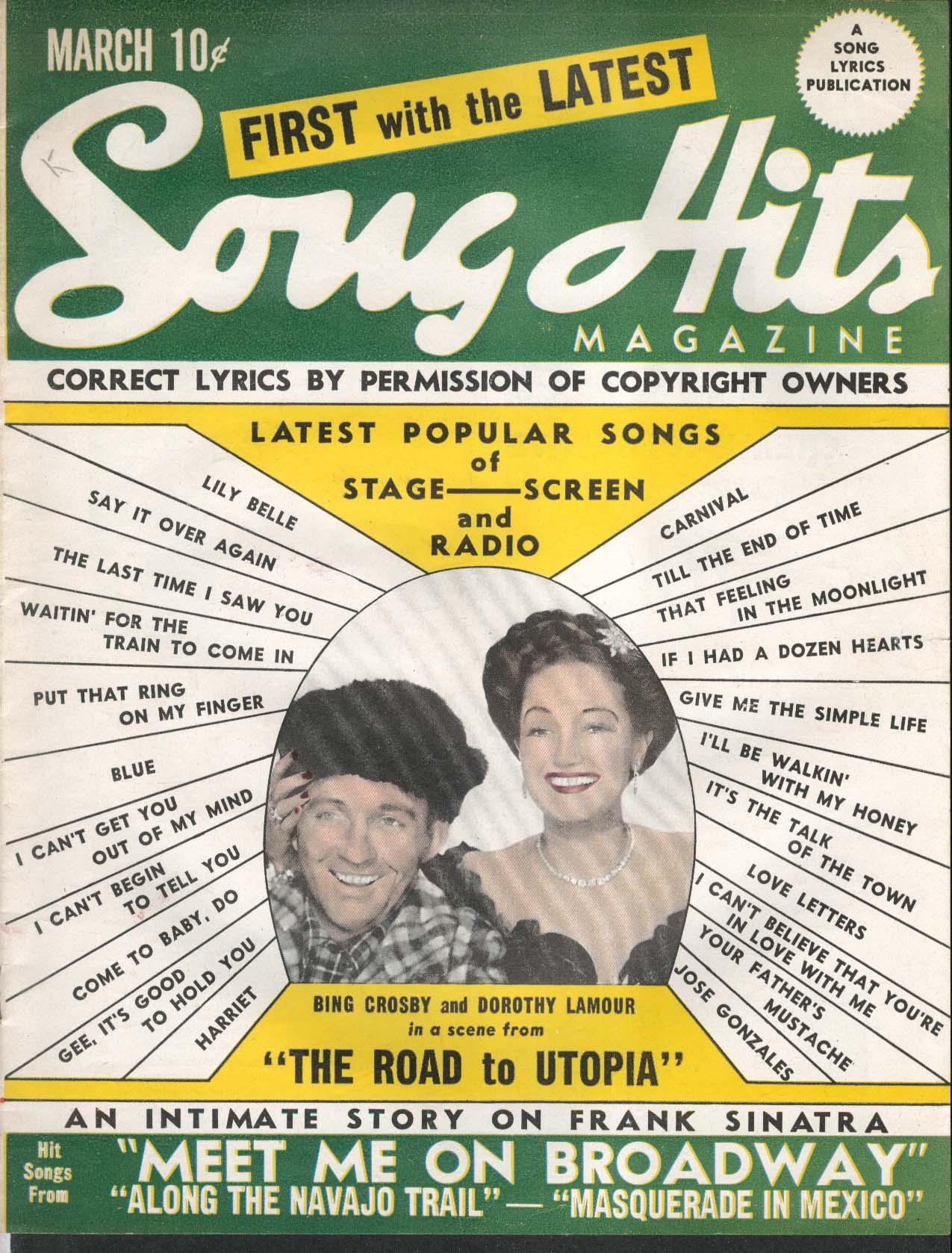 SONG HITS Bing Crosby Dorothy Lamour Frank Sinatra 3 1946