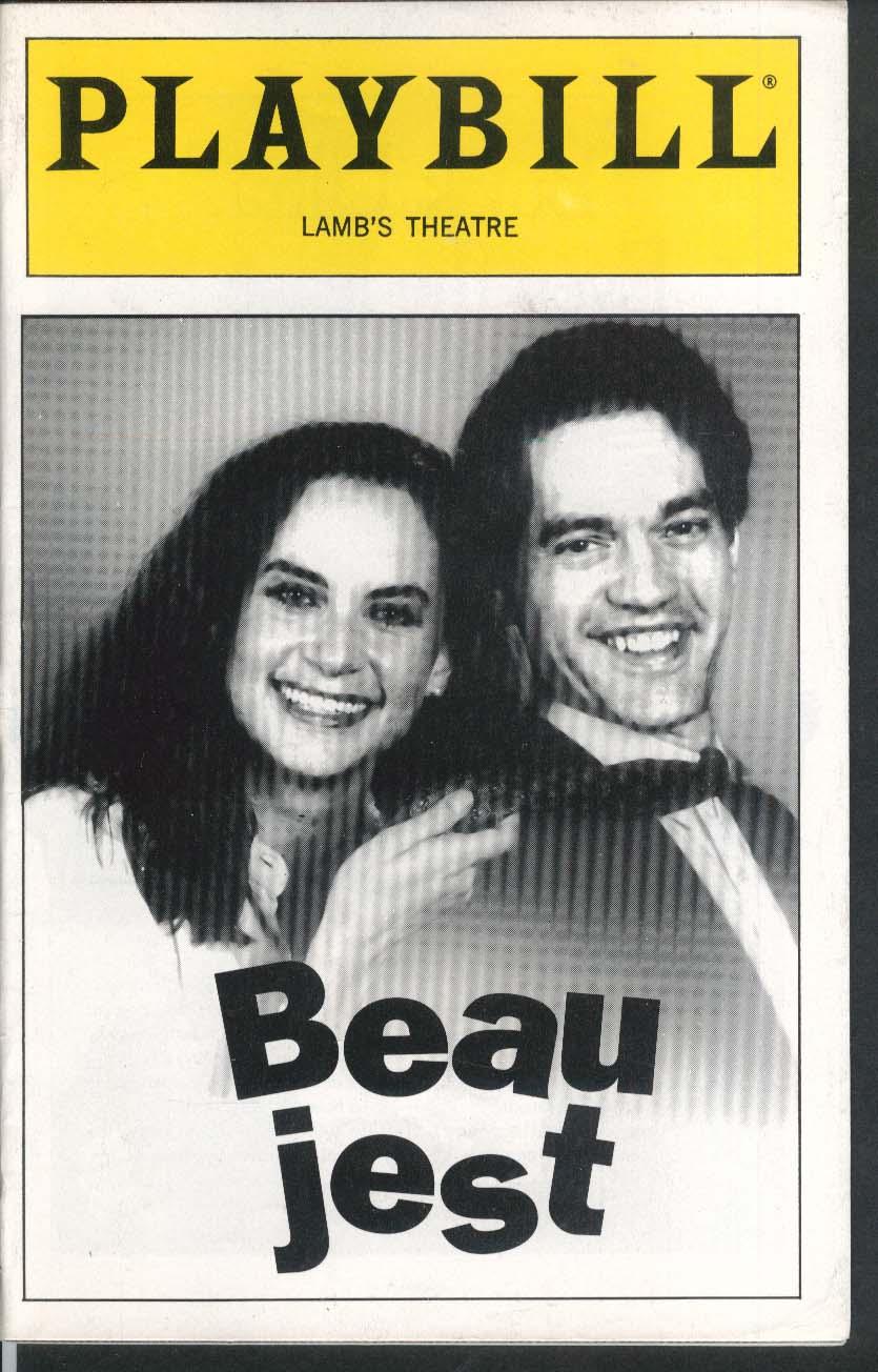 Beau jest Playbill Lamb's Theatre 1993 Bill Doyle Larry Fleischman Cindy Katz