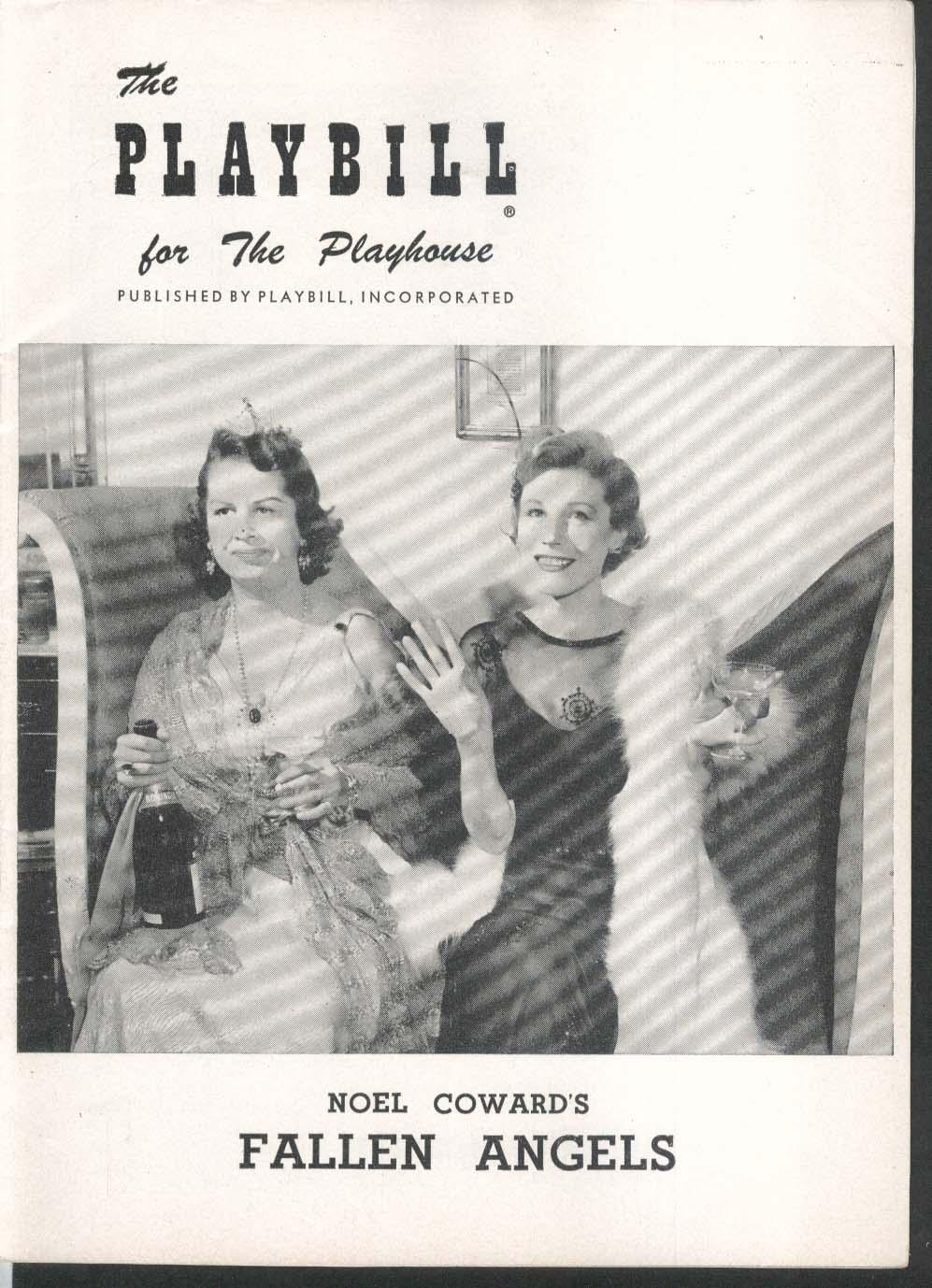 Fallen Angels Playbill Playhouse 1956
